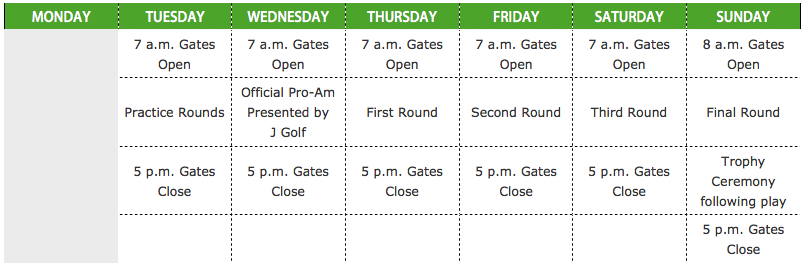 LPGA Tour Schedule