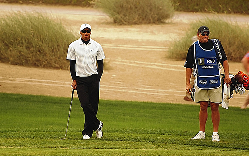 Tiger Woods in Dubai