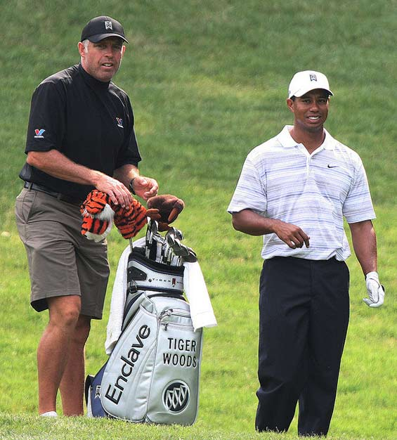Steve-Williams and Tiger Woods