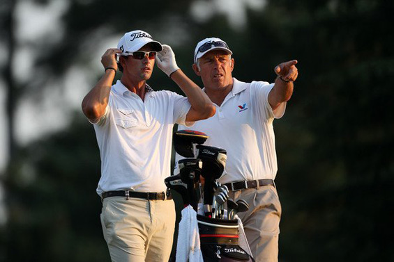 Steve-Williams caddies for Adam-Scott