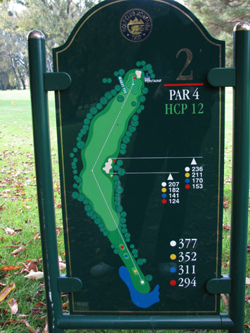 Second-hole-golf course -Montreux-Switzerland