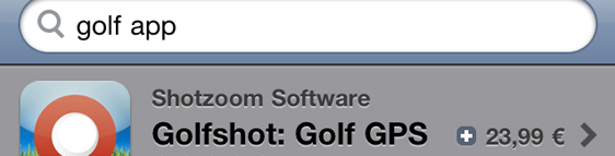 iPhone and iPad golf applications