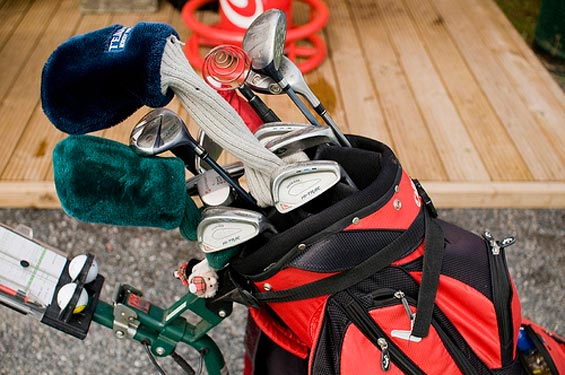 Golf clubs in a Golf-bag