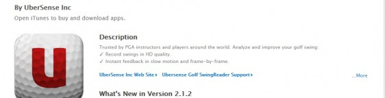 Top Golf Apps for iPhone and iPad: Ubersense Golf SwingReader