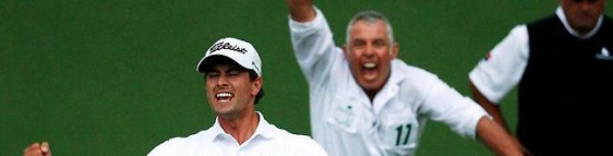 Adam Scott wins The Masters 2013 with Steve Williams